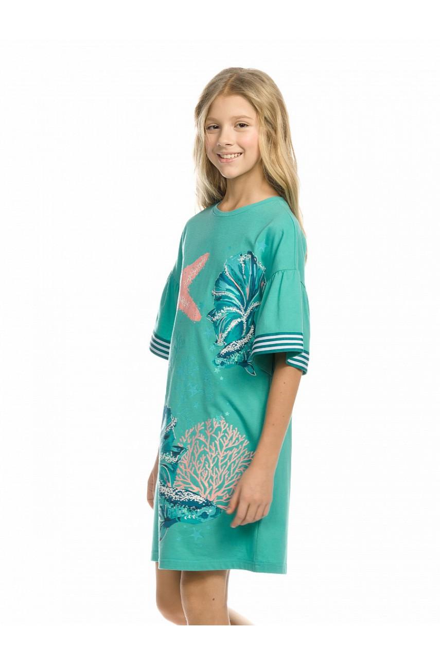 Платье для девочки GFDT4158 Аквамарин