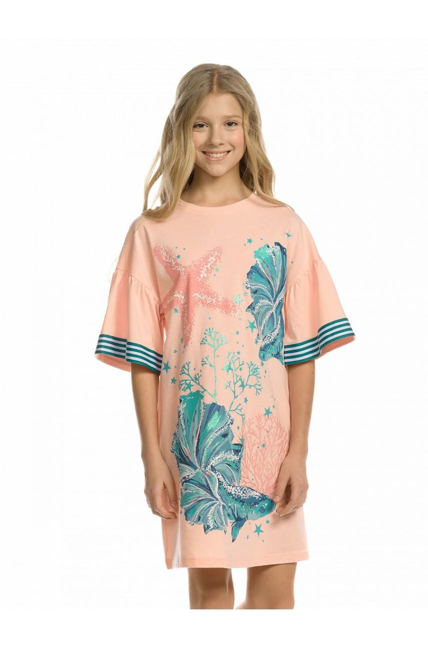Платье для девочки GFDT4158 Персиковый